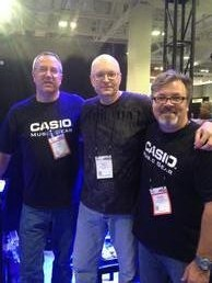 Ray with Greg Dean and Mike Martin of Casio
